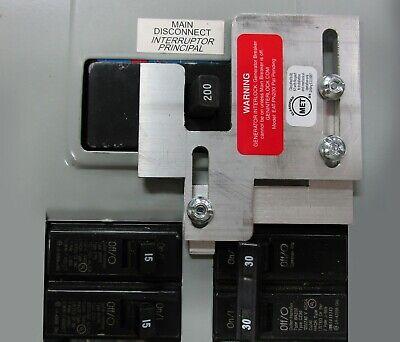 Generator interlock kit Cutler Hammer 150 /& 200 Amp CH Series LISTED EAT-CH200A
