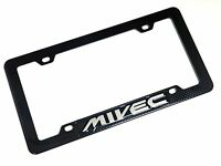Carbon Fiber Look License Plate Tag Frame For Mitsubishi