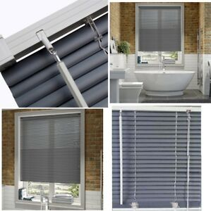 grey window blinds bathroom image is loading pvcgreyvenetianwindowblindsblindforhome pvc grey venetian window blinds blind for home office all sizes