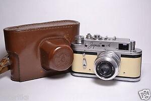 ZORKI-4-Beige-body-Soviet-Russian-35mm-Rangefinder-Camera-Industar-50