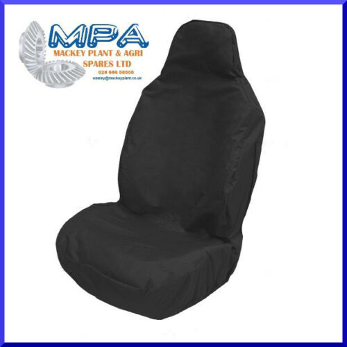 BLACK UNIVERSAL HEAVY DUTY FRONT SEAT COVER FOR DAF SCANIA IVECO MAN VOLVO