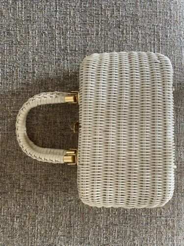Vintage 1960's White Wicker Purse