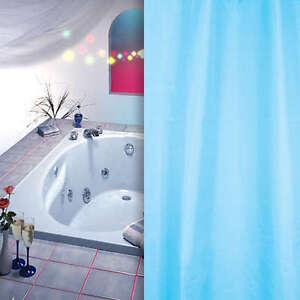 textil duschvorhang hell blau 180 x 230 hoch berl nge inkl duschvorhangringe ebay. Black Bedroom Furniture Sets. Home Design Ideas
