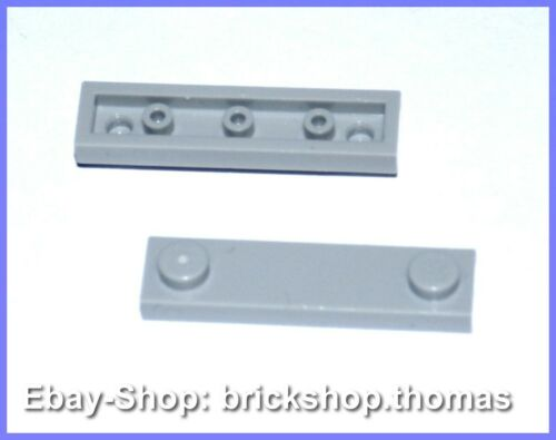 Lego 2 x Fliesen grau 2 Noppen Tile Red 2 Studs gray NEU // NEW 1 x 4 - 92593