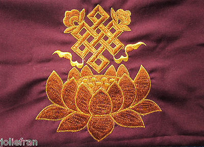 """TIBETAN BUDDHIST PRACTITIONERS EMBROIDERED PUJA BAG 18X12.5"""" FOR RITUAL OBJECTS"""