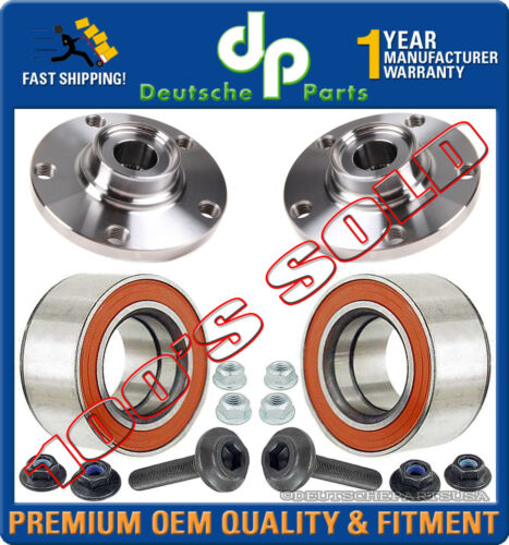 AUDI A4 QUATTRO FRONT WHEEL HUBS BEARINGS ASSEMBLY 8D0407615E + 8D0598625A SET 4