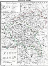 173 Jahre alte Landkarte POSEN Wartheland Bromberg Lissa Pleschen Schwerin 1844
