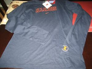para Nike mujer Illinois larga Camiseta marino Azul Large Nwt manga L Illini de UTqwXt1