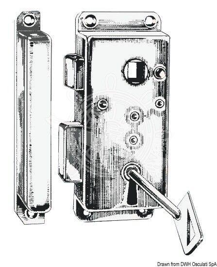 OSCULATI Schloß Messing mm verchromt RX außen 110x45 mm Messing fc8a2f