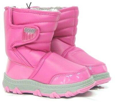 Khombu Chicas Enebro Botas Invierno Nieve Pink | Varios Tamaños Infantil Junior 8-5