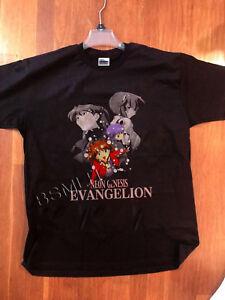 HTF Rare VINTAGE NEON GENESIS EVANGELION 90s anime t-shirt Akira ... 11e00198c9