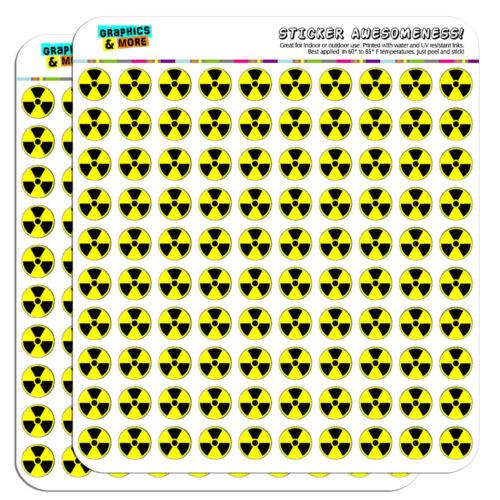 "Radioactive Nuclear Warning Symbol 0.5/"" Scrapbooking Crafting Stickers"