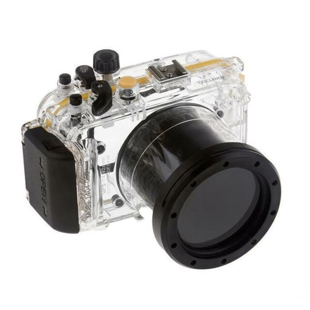 Meikon 40M Waterproof Underwater Camera Housing Case for Panasonic GF6 14-42mm
