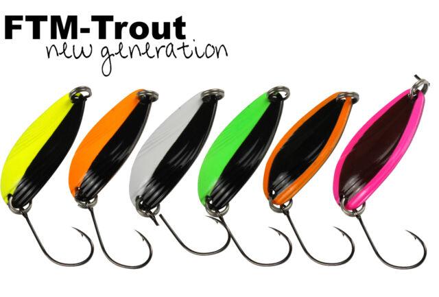 FTM Trout Spoon Forellenblinker Hammer 116 UV Grün Schwarz 3,2g 5200116 UL