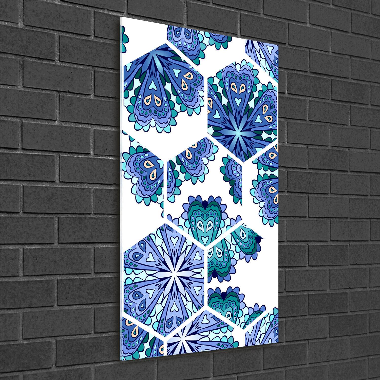 Immagine muro ARTE-STAMPA su duro-vetro perpendicolare 50x100 MANDALA