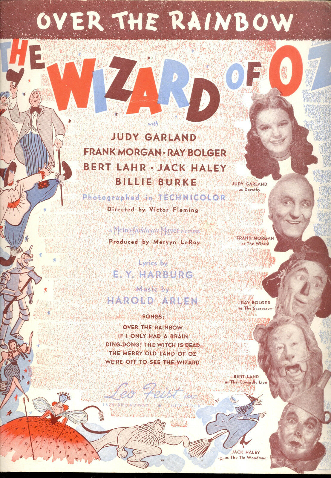 WIZARD OF OZ - 5 Song LOT - COMPLETE Score Judy Garland