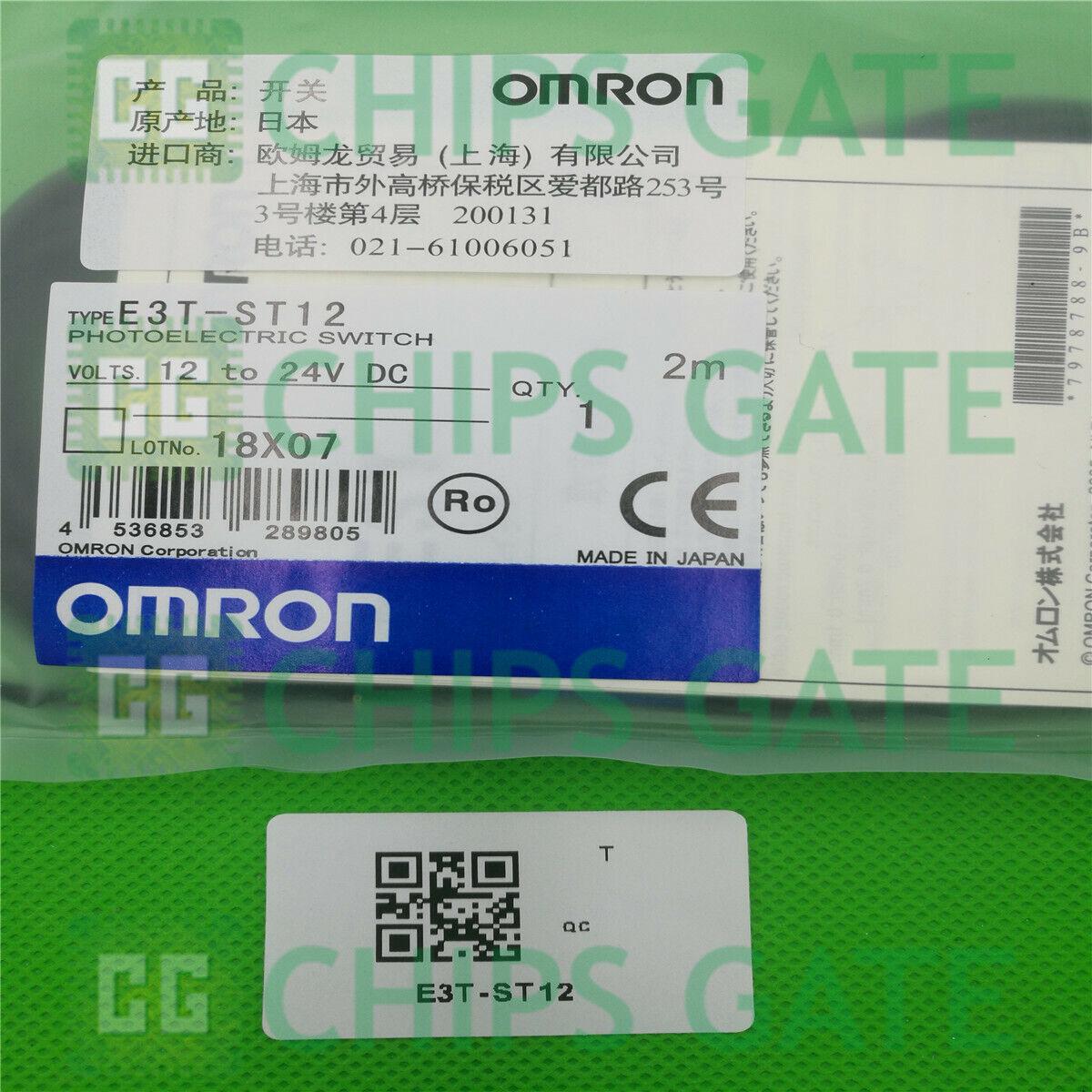 Photoelectric Switch Sensor E3T-ST11 12-24VDC New Omron