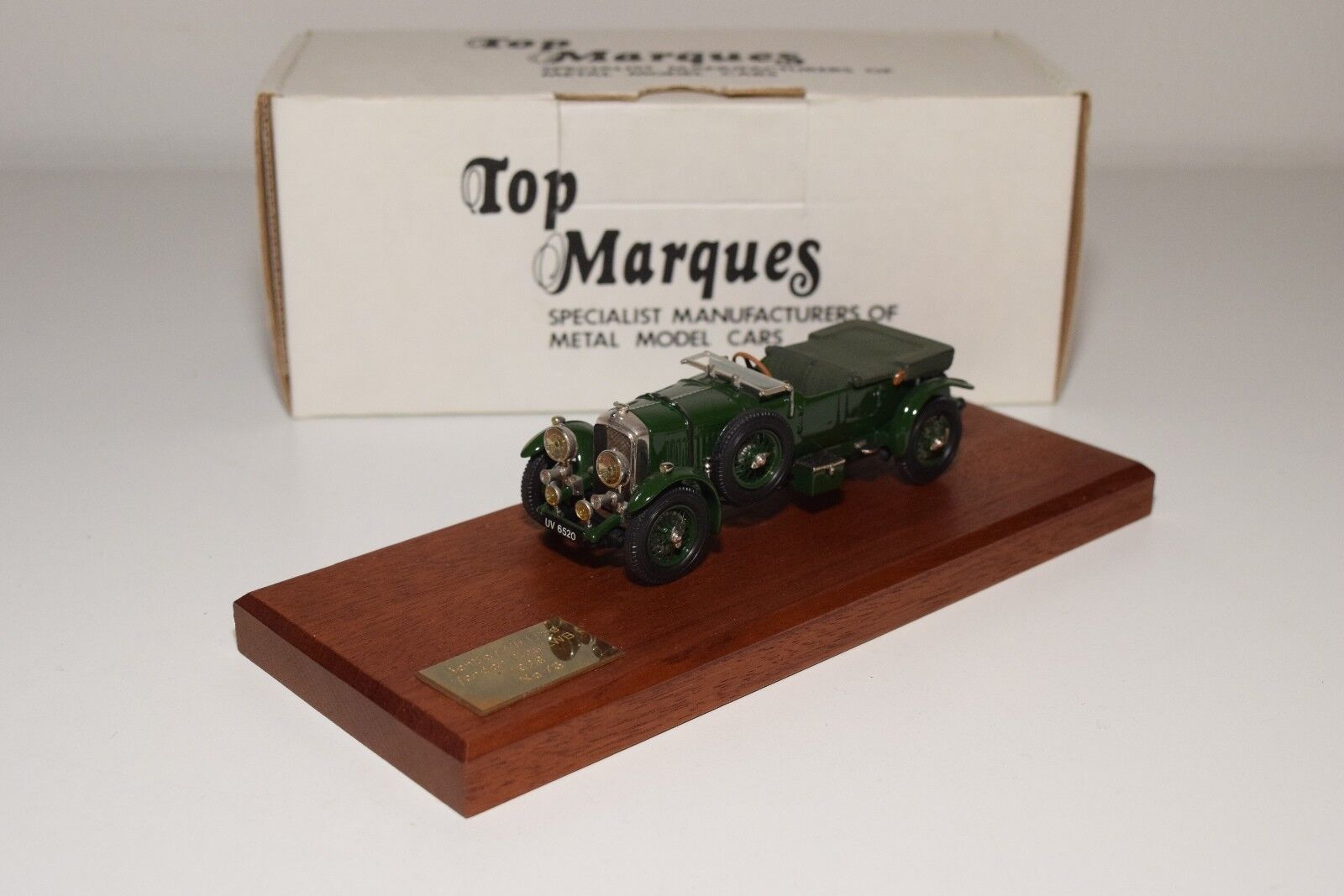 D TOP MARQUES B1 BENTLEY 4.5 LITRE VANDEN PLAS 1929 verde MINT BOXED RARE 73 300