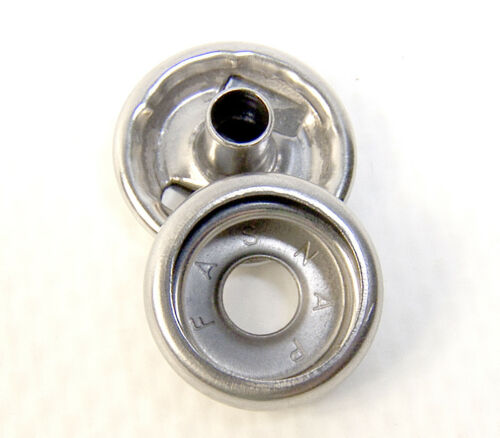 """Cap /& Socket Only 1//4/"""" Long Post on the Cap 50 Piece Stainless Steel Snaps"""