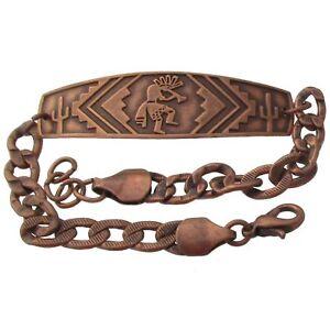 Solid-Copper-Bracelet-Kokopelli-Handmade-Southwest-Arthritis-Jewelry-Adjustable