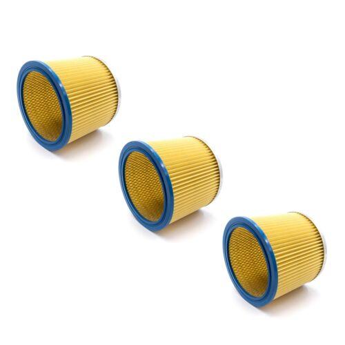 3x Rund-Filter Lamellenfilter gelb für Einhell BVC 1815 S DUO 1400 DUO 1250//1
