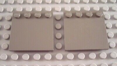 LEGO Lot of 2 Light Bluish Gray 4x4 Edge Stud Tile Pieces and Parts