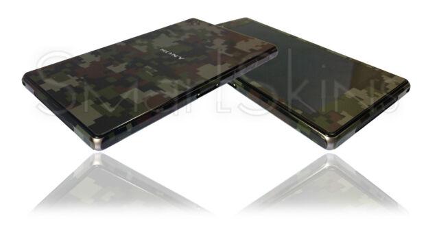 Digital Matt Camo Skin For SONY XPERIA Z1 Camouflage Wrap Decal Sticker Case