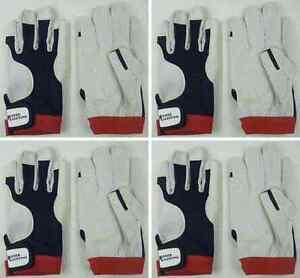 Bekleidung 2 Paar BluePort Segelhandschuhe Rindsleder Gr L Rigger Roadie Gloves Handschuhe Handschuhe