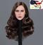 """1//6 Female Head Sculpt cheveux bouclés Bronzage Phicen Hot Toys 12/"""" figure GC034 D ❶ USA ❶"""