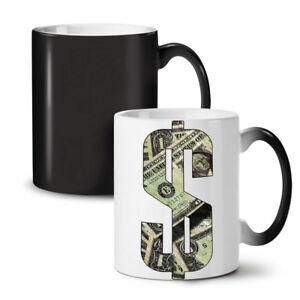 Dollar Bill Symbol NEW Colour Changing Tea Coffee Mug 11 oz | Wellcoda