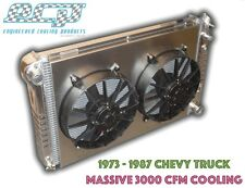 HUGE 1973 - 1987 Chevy C10 Truck Aluminum Radiator - MASSIVE 3000 CFM COOLING!