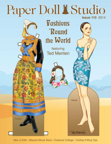 Paper Doll Studio Magazine Issue #110 FASHIONS 'ROUND THE WORLD from 2014