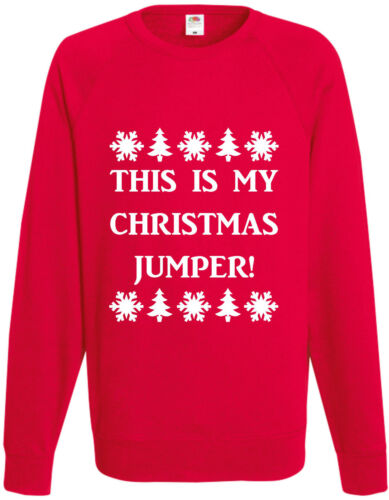 This Is My Christmas Jumper Funny Xmas Sweatshirt Jumper Pullover Gift Present