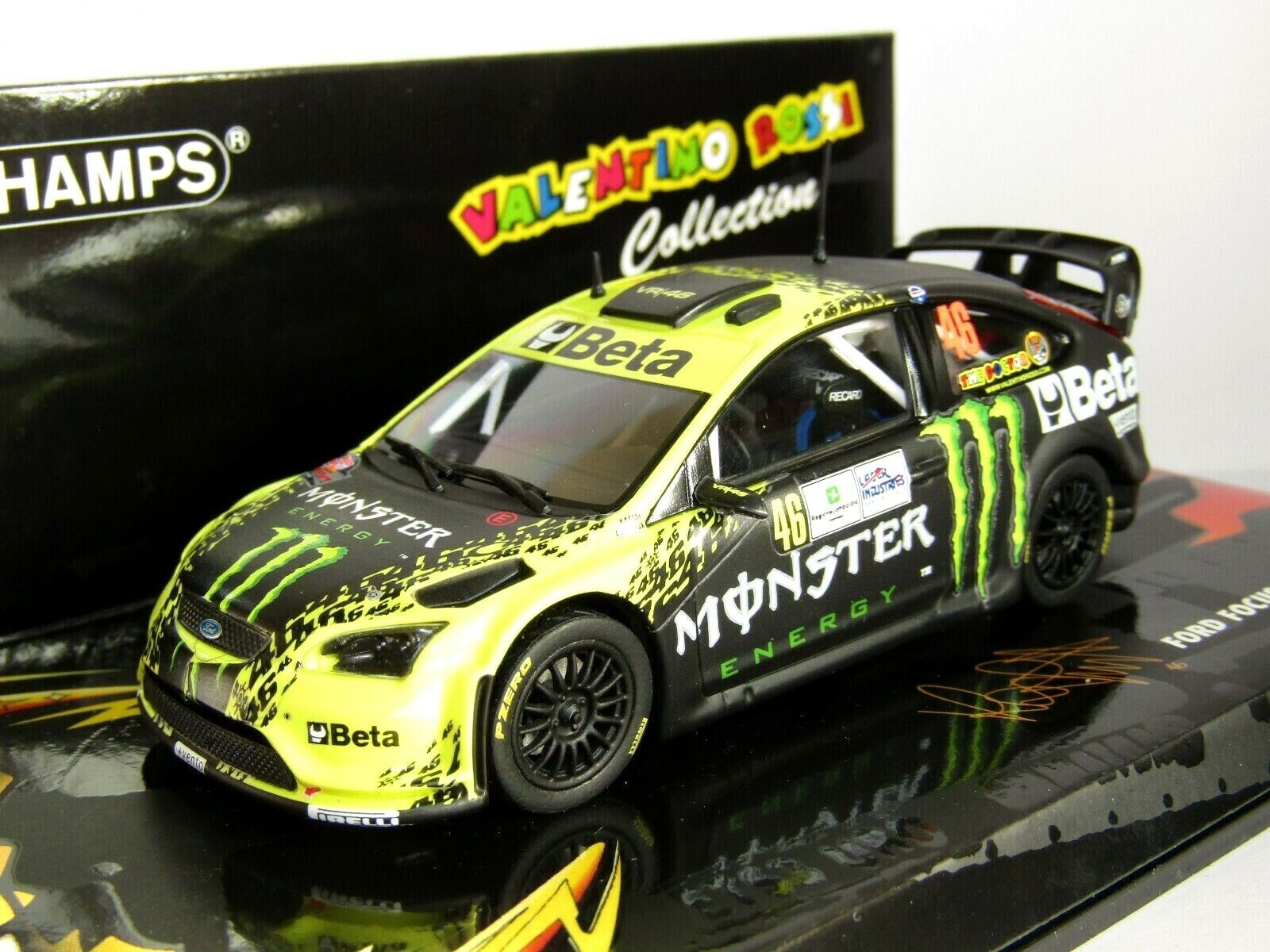 MINICHAMPS FORD FOCUS RS WRC MONZA RALLY 2009 ROSSI CASSINA 1 43 BETA