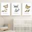 Safari-jungle-animaux-Nursery-Imprime-Set-de-3-Chambre-de-bebe-photos-Wall-Art-Decor miniature 9
