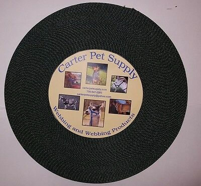 Carter Pet Supply 1 Inch Black Heavy Nylon Webbing 5 Yards USA MADE