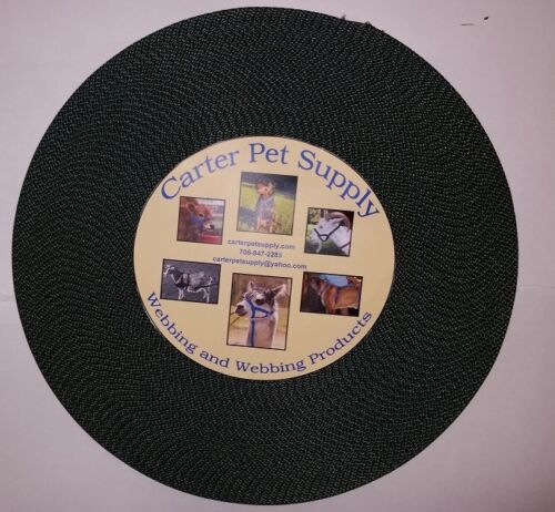 Carter Pet Supply 1 Inch Black Heavy Nylon Webbing 10 Yards USA MADE
