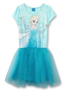 NEW USA Frozen Princess Elsa Lace Birthday Girls  Dress Pink 2T 3T 4 5 6
