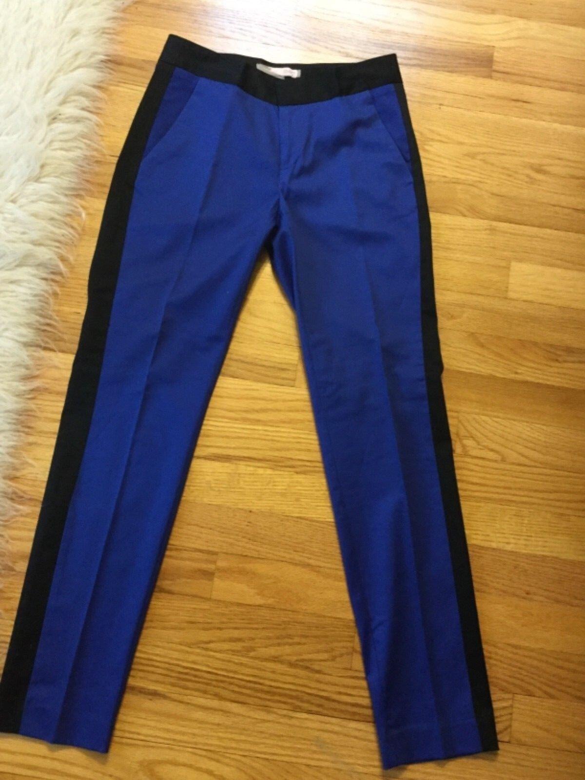 NWOT Forever 21 Blau tuxedo pants with schwarz stripe Größe XS