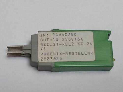 24VAC//DC OUT 1 pc ST-REL2-KG 24//1  Phoenix Relais 1S  250V//6A #BP 2823625 IN