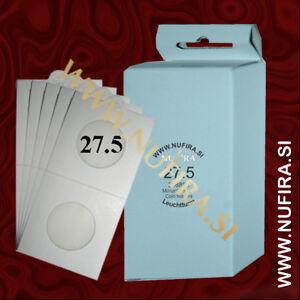 Lighthouse-Leuchtturm-Coin-Holders-Self-adhesive-50x50mm-17-5-39-mm-50x