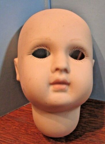 Vintage  BISQUE DOLL HEAD 3 TALL painted  body parts d