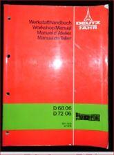 Deutz Fahr D 68 06 , D 72 06 Werkstatthandbuch Getriebe