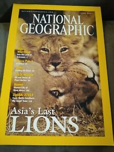 National Geographic Magazine - June 2001 Asia's LAST Lions -  MARCO POLO CHILE
