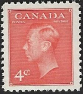 Canada  # 306  KING GEORGE VI   POSTES - POSTAGE  Brand New 1951 Issue     .