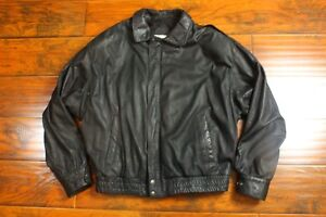 mens Veste moyenne Alvear noire grande cuir véritable doublée à en bombardier motard de 8Nn0PXkwO