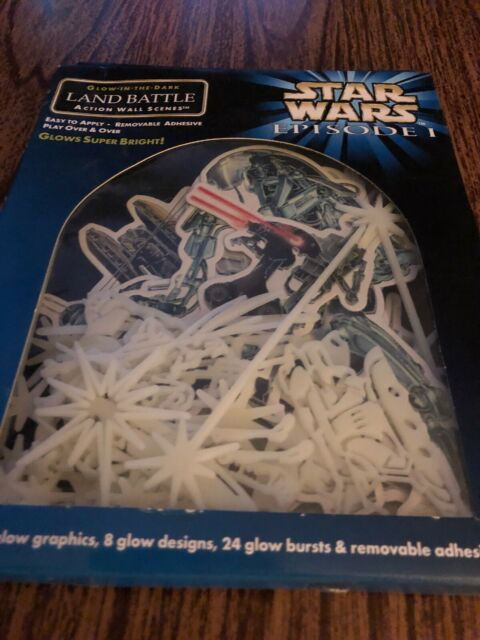 Collictable Star Wars Episode l Land Battle Action Glow in the Dark  Wall Scenes