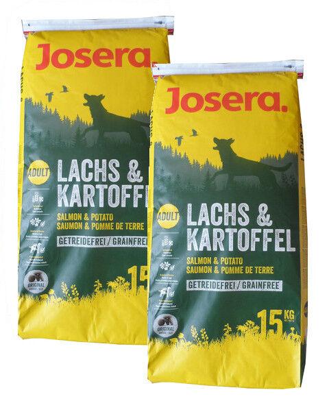 2x15kg josera Nature Salmone & patata Adult cibo per canicereali libero