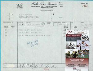 Leo-Fender-Signed-1973-CLF-Invoice-Manufacturing-Parts-Music-Man-Inc-JSA-COA
