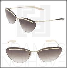CHRISTIAN DIOR Diorette Cat Eye Sunglasses Women Gold Brown Gradient Rimless
